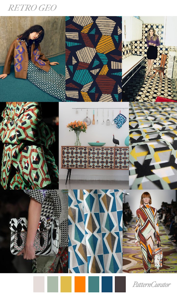 Trends Pattern Curator Retro Geo Ss 2018 Fashion