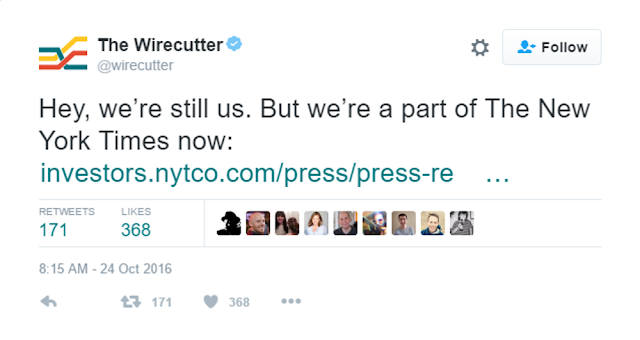The New York Times Company Acquires The Wirecutter and The Sweethome