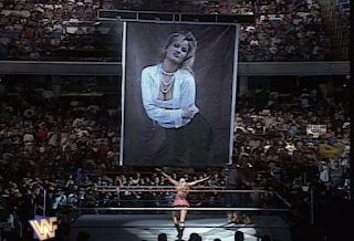 WWF / WWE SUMMERSLAM 1996 - Sunny revealed a picture of herself after her team beat the Godwins, The Body Donnas, and The New Rockers