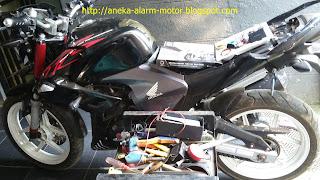 Cara pasang alarm motor pada Honda Mega Pro Karbu