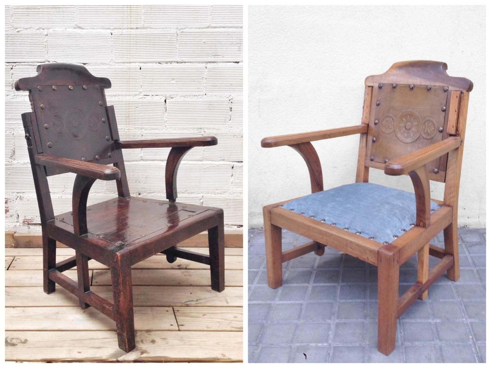 Antes y después - Butaca antigua de barbero - Studio Alis