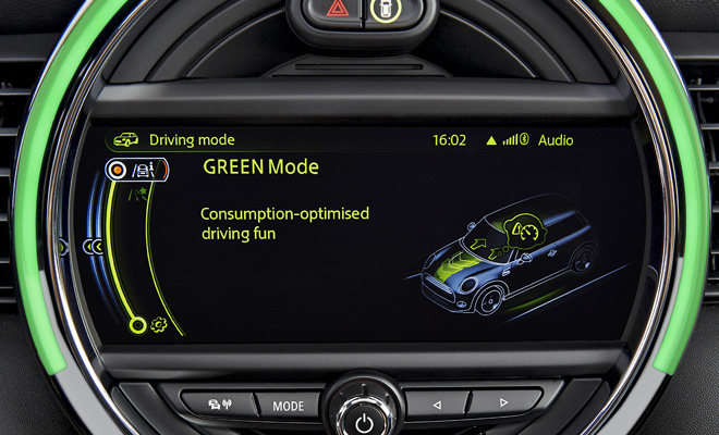 2014 Mini Green driving mode