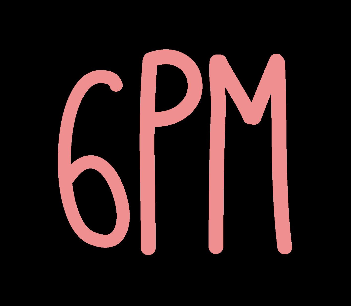 handwritten font 6pm the pink sushi