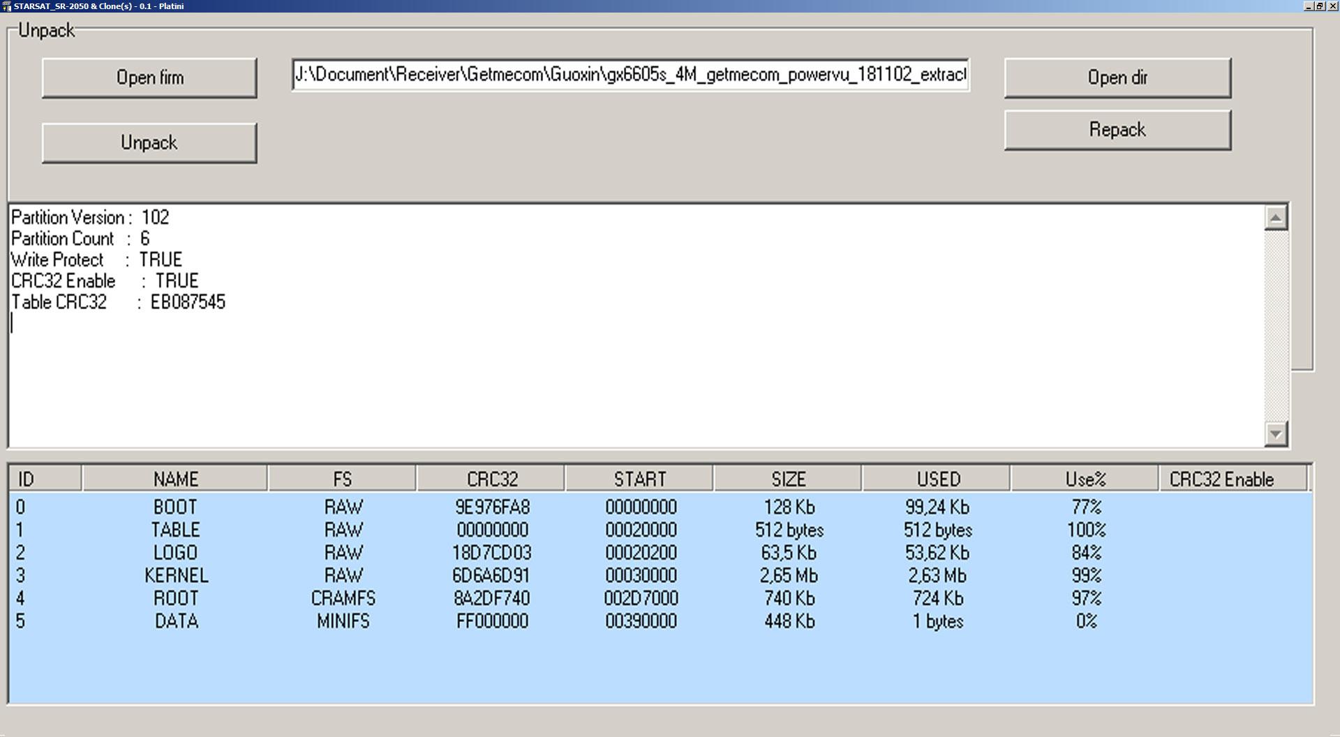 Aplikasi Edit Firmware Unpack Repack Software GX6605S