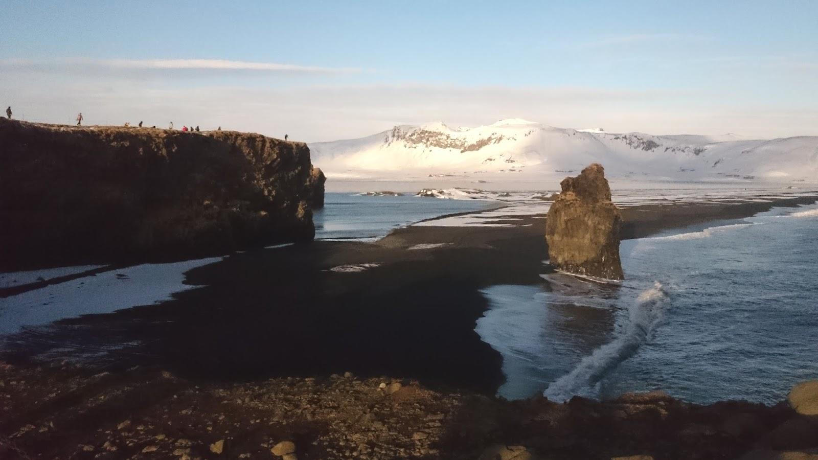 widok z Dyrholaey, Dyrholaey, cypel Dyrholaey, wybrzeże Islandii, islandzka plaża