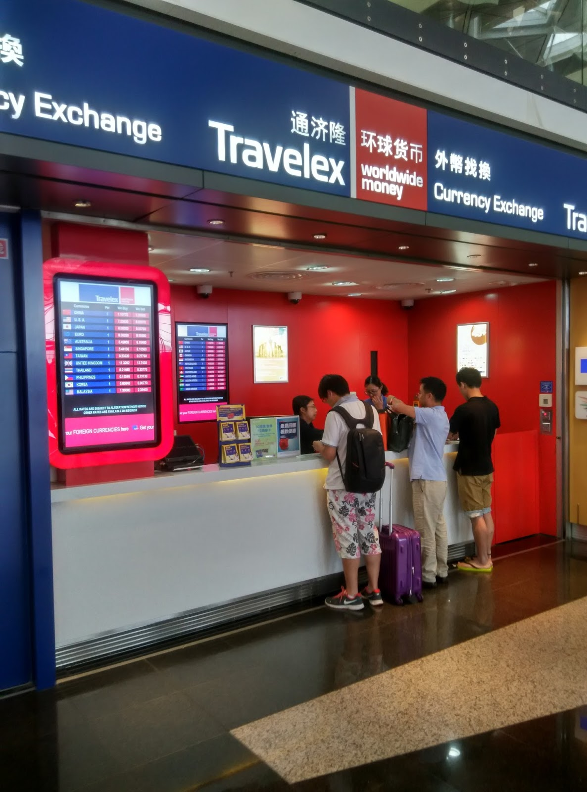 Money Changers At Hong Kong Airport