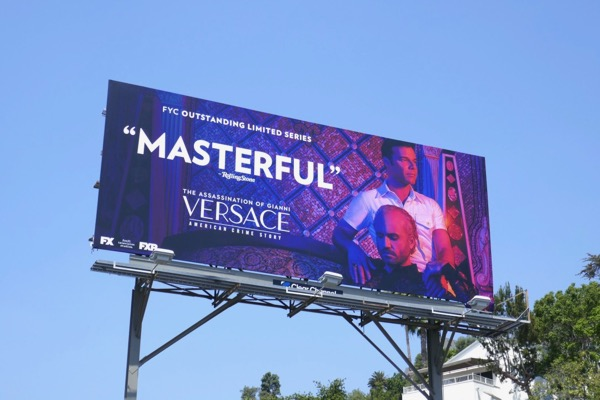 Assassination Versace Masterful Emmy FYC billboard