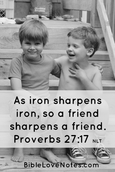 as iron sharpens iron Proverbs 27:17