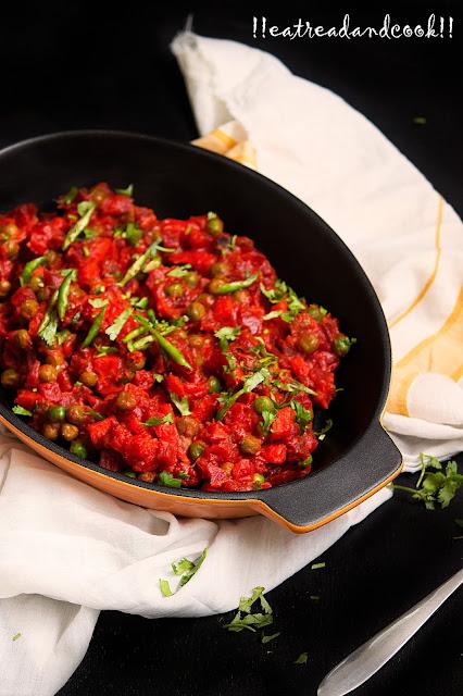 bengali style Beet gajorer torkari recipe