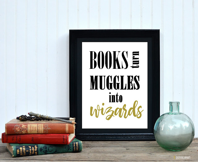 free harry potter book quote printable