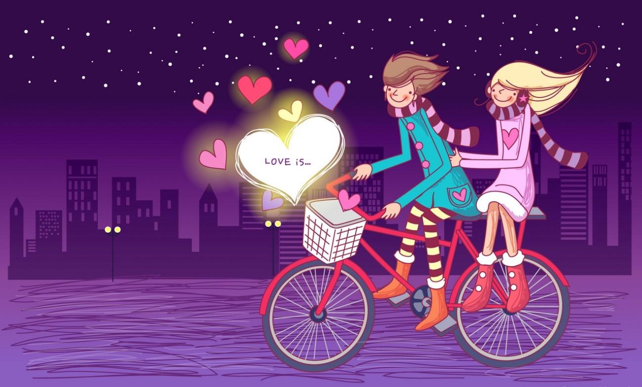 3d Love Couple Cartoon Wallpapers Download