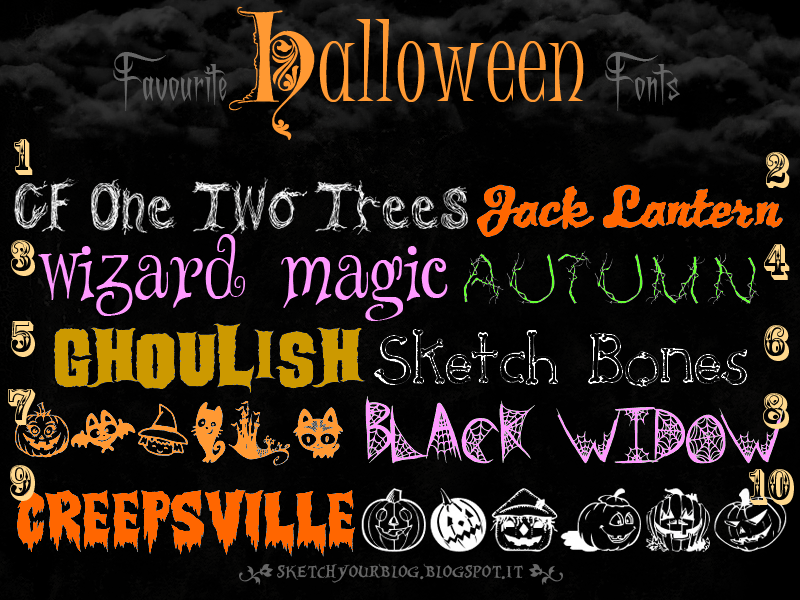 My Favourite HALLOWEEN fonts