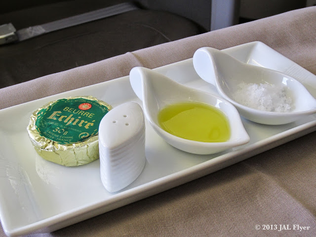 JAL First Class trip report on JL005: JAL uses one of the best butters in France in its First Class