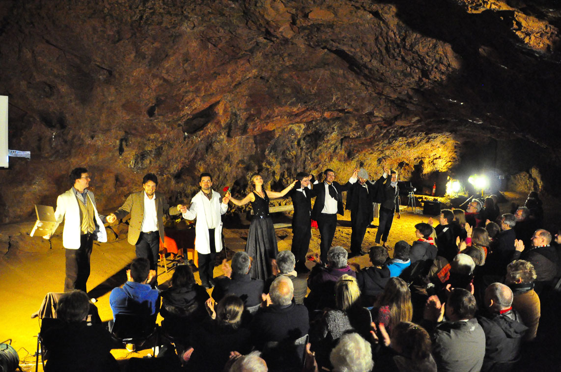 Donizetti's Don Pasquale in Clearwall Caves,  May 2013 (courtesy of Kate Healey)