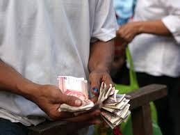 counting money in church