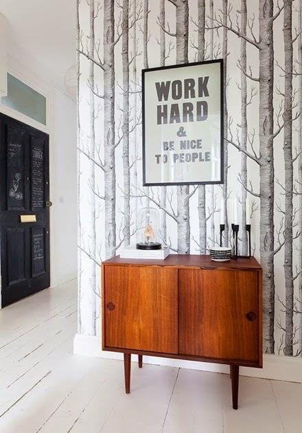 inspiracje w moim mieszkaniu Kultowa tapeta Woods firmy