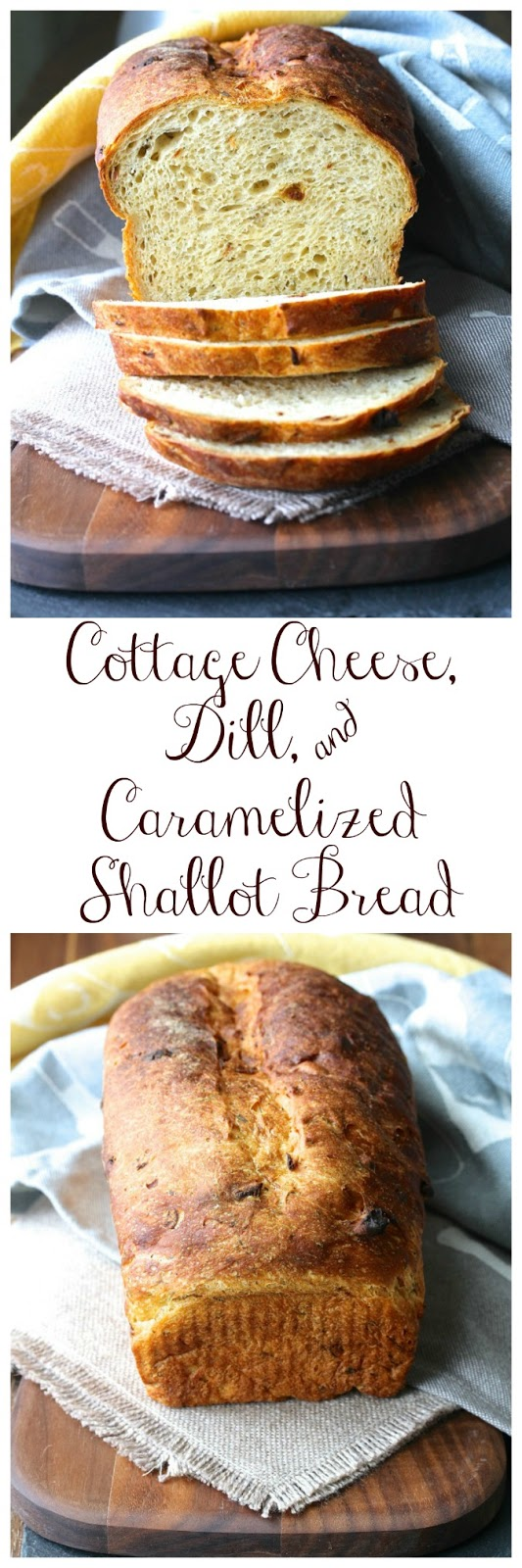 Cottage Cheese, Dill, and Caramelized Shallot Bread