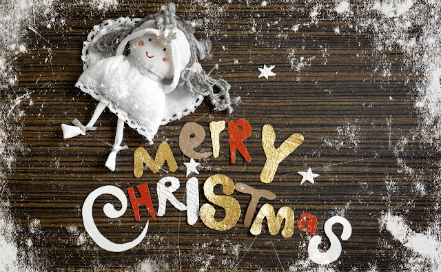 merry christmas words wallpaper hd