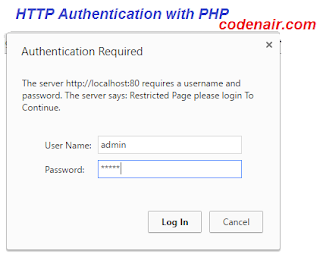 php http authentication example