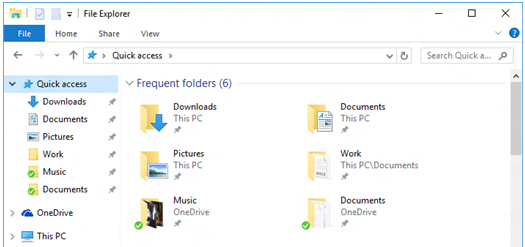 Get Help  in quick access area With File Explorer in Windows 8.1