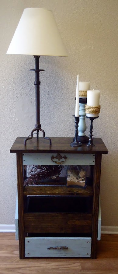 Console, Side Table and Etagere with Vintage Hardware - SOLD