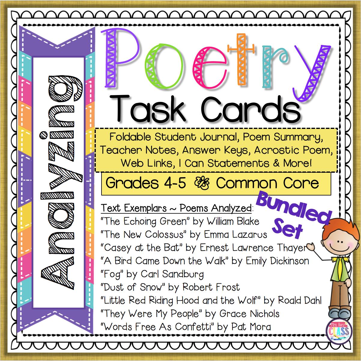 Poetry Interpretation 4th Grade