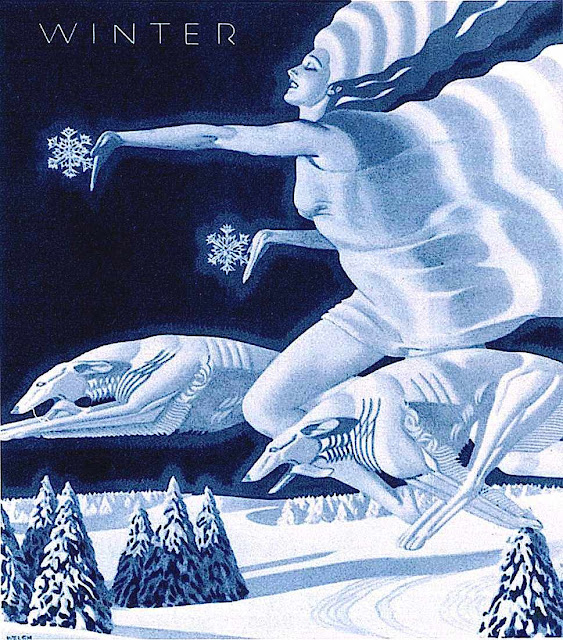 William P. Welsh illustration of winter