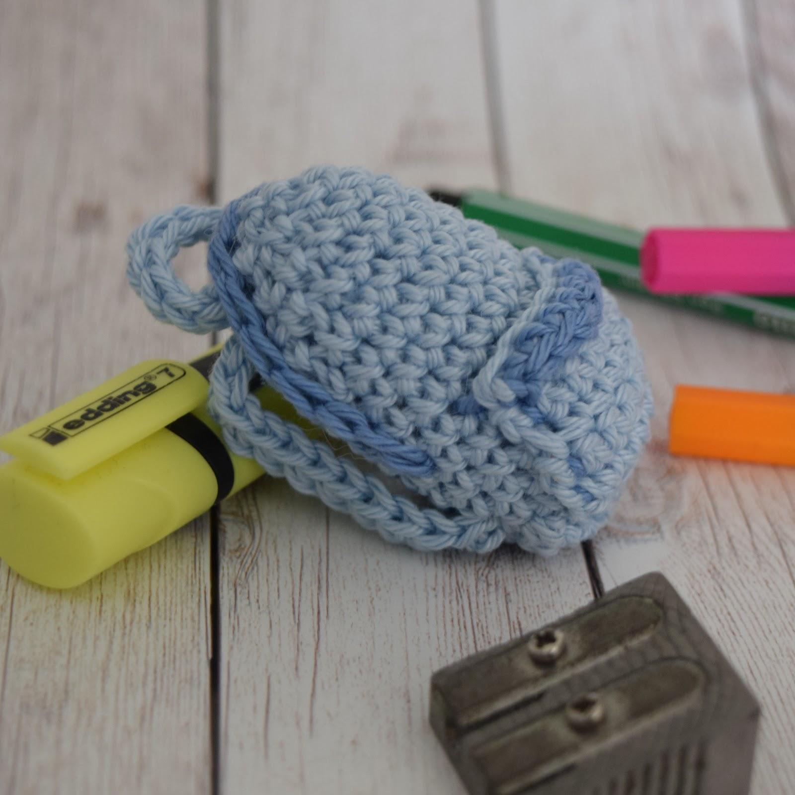 Häkelblog - Täglich neue Anleitungen: Schulranzen Schlüsselanhänger ...