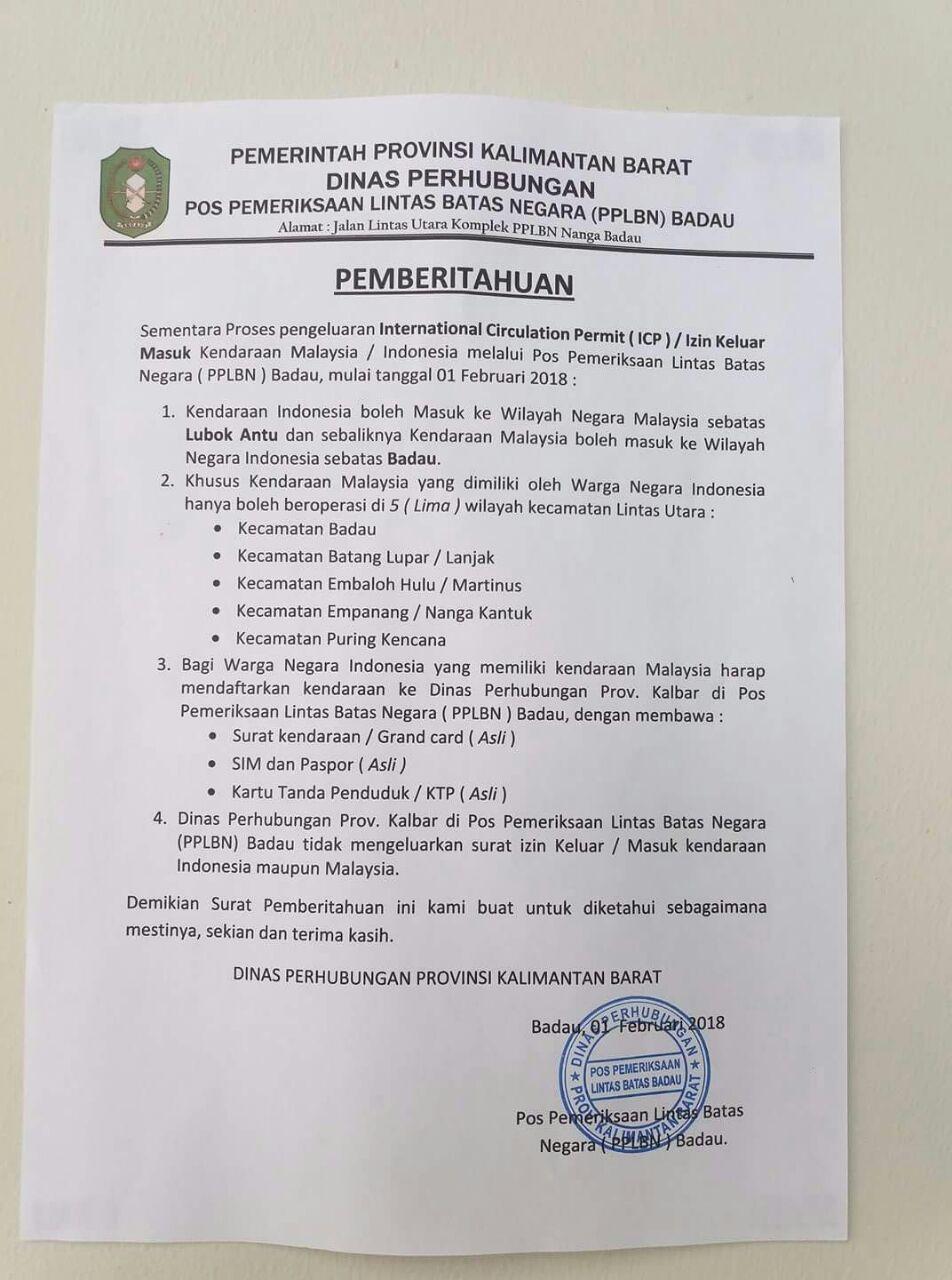 Bermodal ICP,  Kendaraan RI Bebas Masuk Malaysia