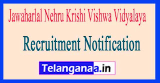 Jawaharlal Nehru Krishi Vishwa Vidyalaya JNKVV Jabalpur Recruitment Notification 2017
