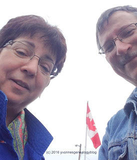 Michael and Yvonne with the Flag of Canada