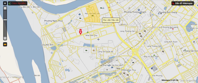 Lộ trình tuyến đường 40m từ đê Ngọc Thụy đến phường Thượng Thanh.