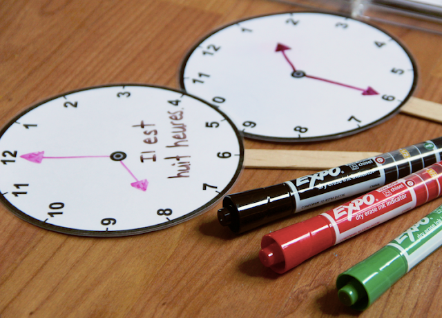 Dry Erase Analog Clocks #EXPOTeacherWin