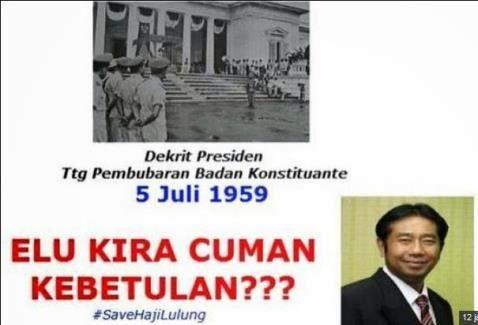 gambar meme haji lulung dekrit presiden