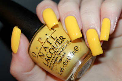 "Swatch of the yellow nail polish  ""I Just Can't Cope-Acabana"" from O.P.I."