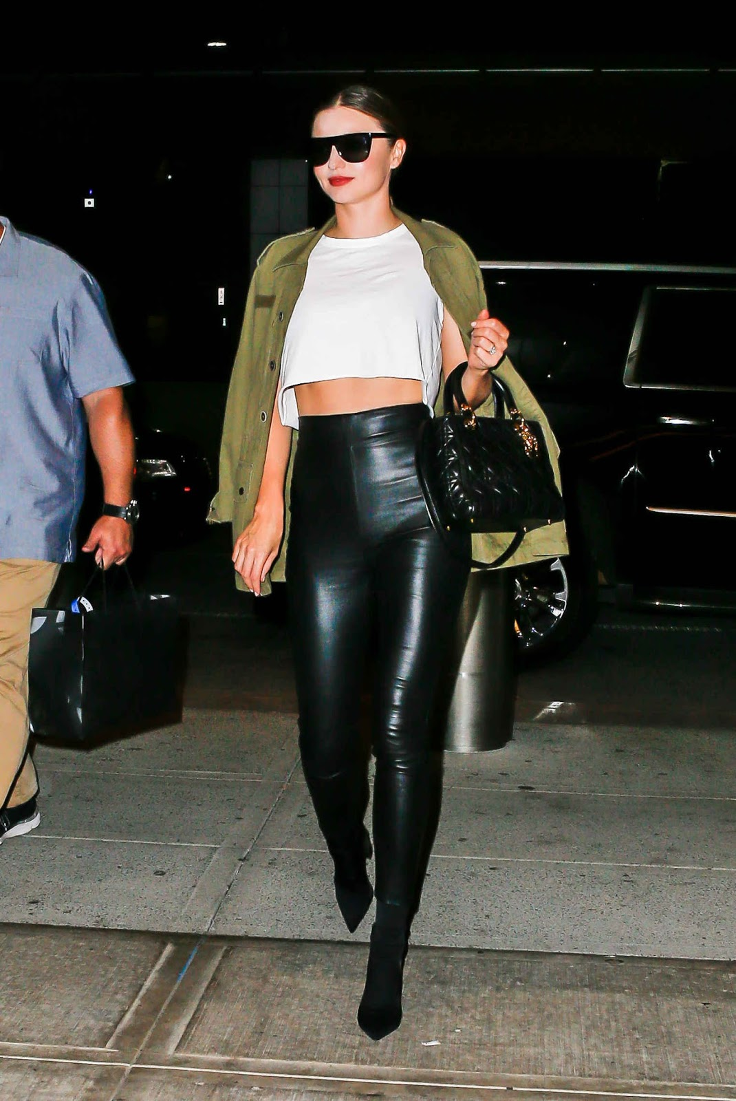 Miranda Kerr in Leather Pants