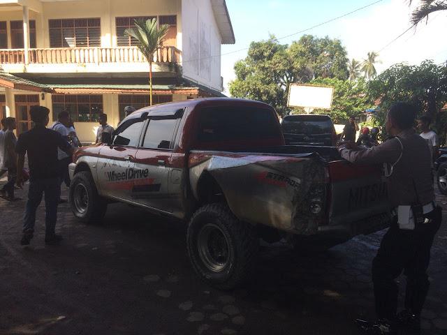 Sopir Ugal-Ugalan, Mobil Bawa Tahanan Kejaksaan Negeri Stabat Seruduk Dua Mobil