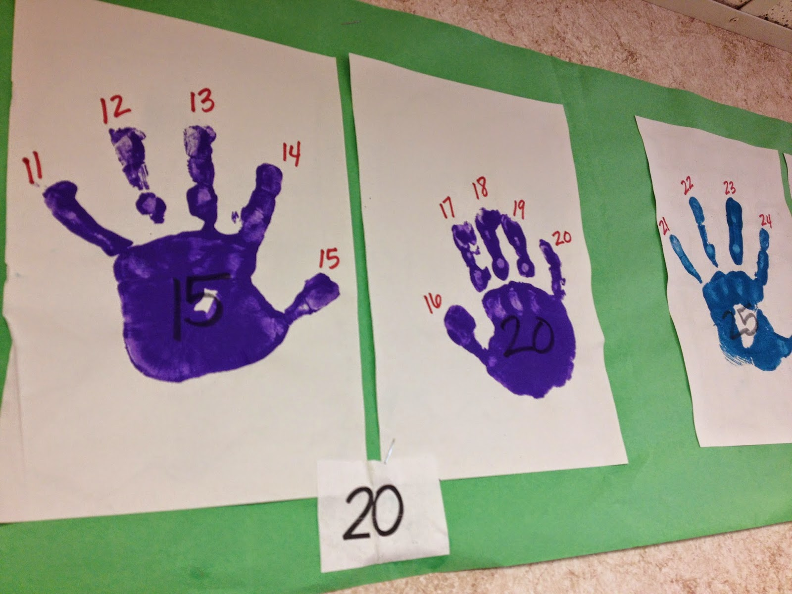 Classroom Freebies Too Handprint Number Line