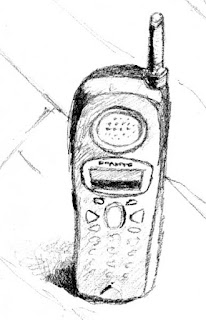 Sketch of a cellphone
