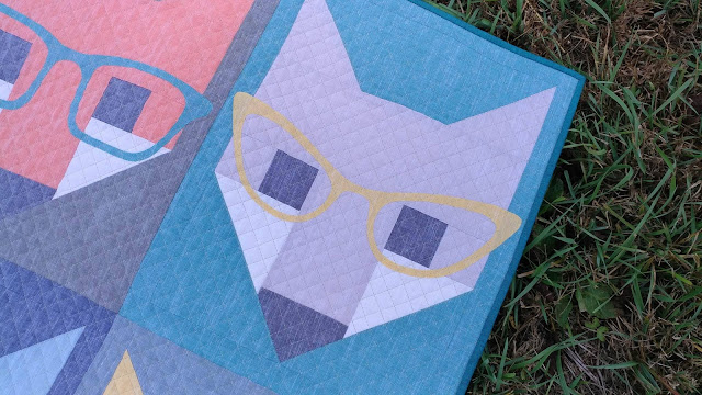 Fancy Fox quilt with organic cotton chambray