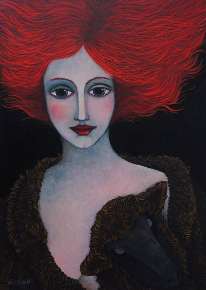 Её картины-мечты - её личный мир. Claudia Yates
