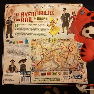 Les Aventuriers du Rail Europe verso