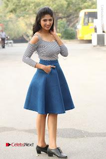 Telugu Actress Roshini Prakash Stills Short Dress at Saptagiri Express Release Press Meet  0221.JPG