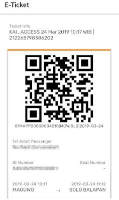 Print Screen Boarding Pass di aplikasi KAI Acess