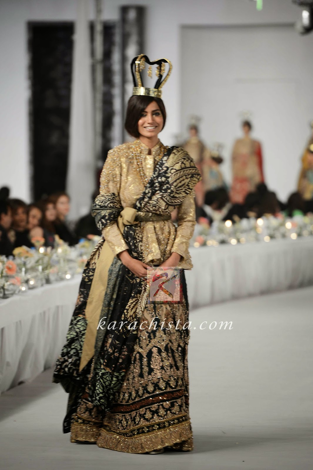 Rabia Butt in HSY Swarovski crystals ensemble