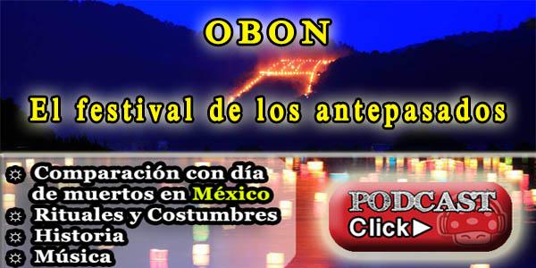 comparación obon con día de muertos en México VS Japón