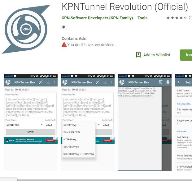 Cara Setting KPN Tunnel Revolution Videomax Telkomsel