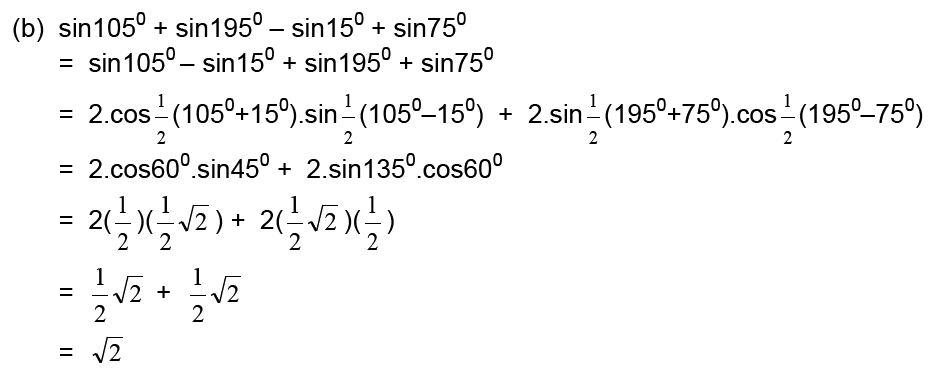 Rumus Jumlah Dan Selisih Sinus Dan Kosinus Materi Lengkap Matematika