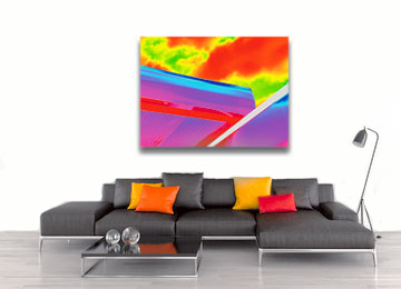 art, canvas art, contemporary, landscape, modern art, multi coloured, neon, Sam Freek, urban art, wall art,