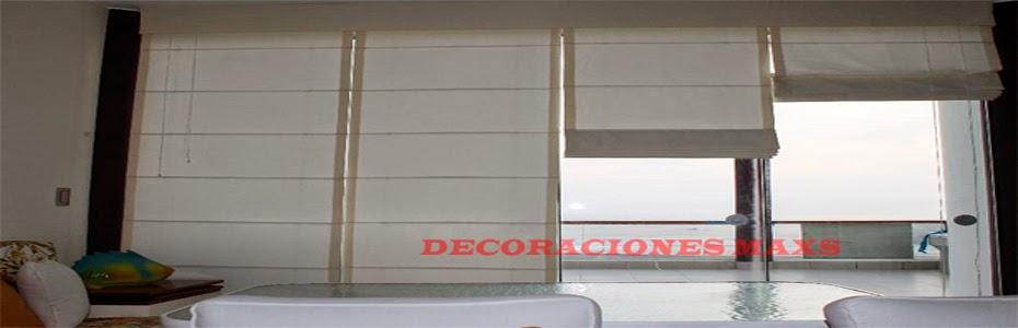 Decoraciones maxs cortinas peru persianas roller estores - Confeccion de estores ...